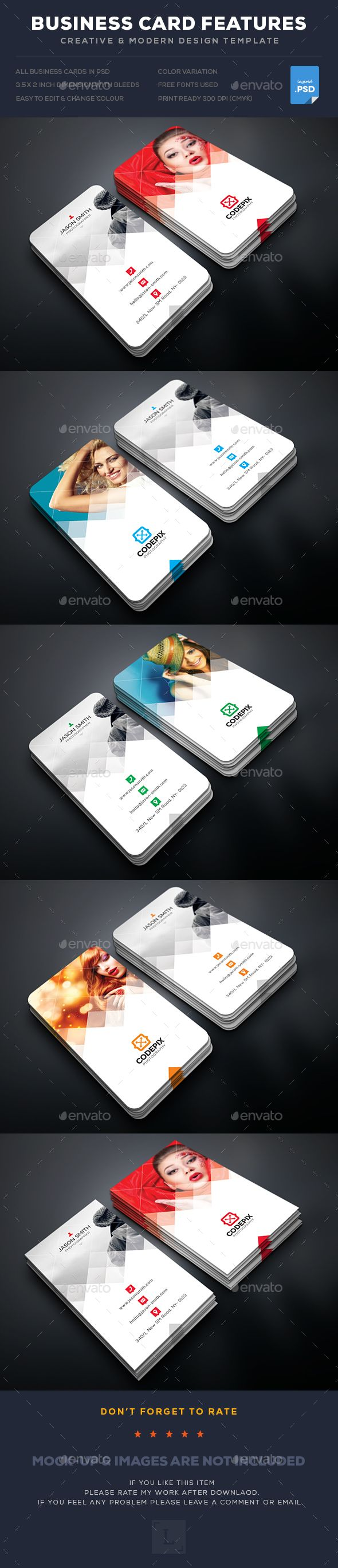 Photography Business Card Template PSD. Download here: https://graphicriver.net/item/photography-business-card/17625252?ref=ksioks