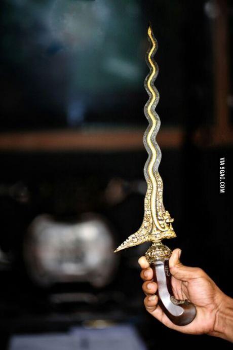 Indonesian dagger, the kris.