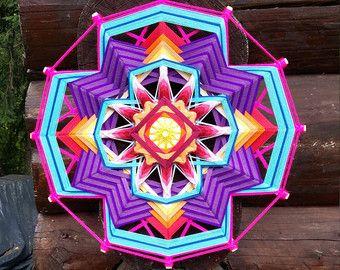 Mandala Ojo de Dios La prosperidad por BeHappyMandalaShop en Etsy