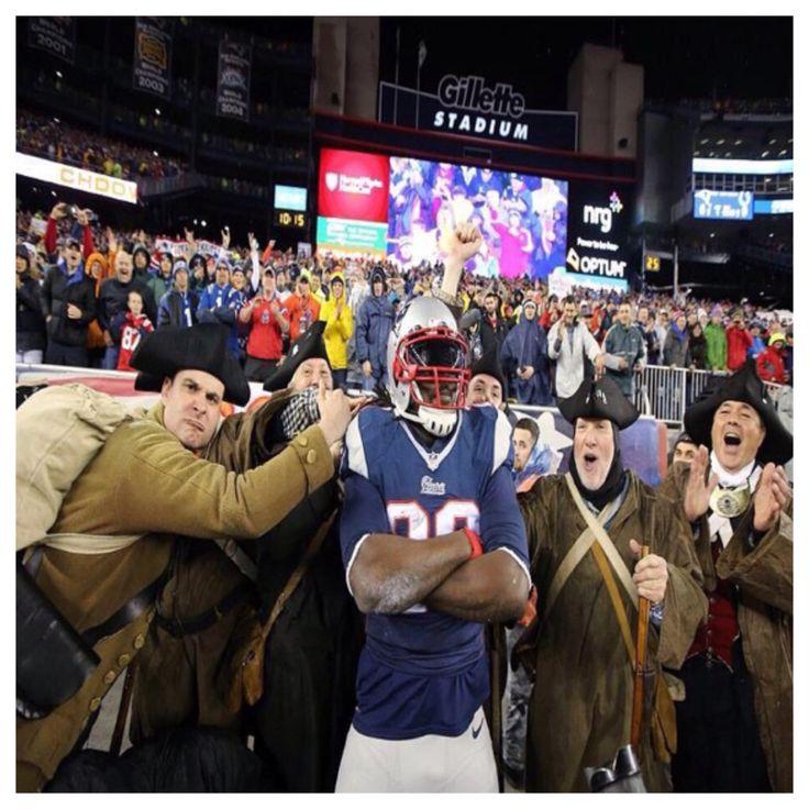 Legarrette Blount And The Minutemen New England Patriots Patriots Patriots Football