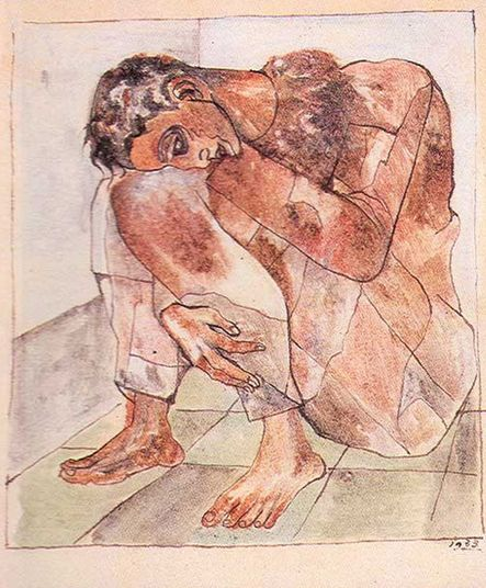 "By Federico Cantú, 1930, ""Harlequin Triste"". Collection Paco and Diego Cantu."