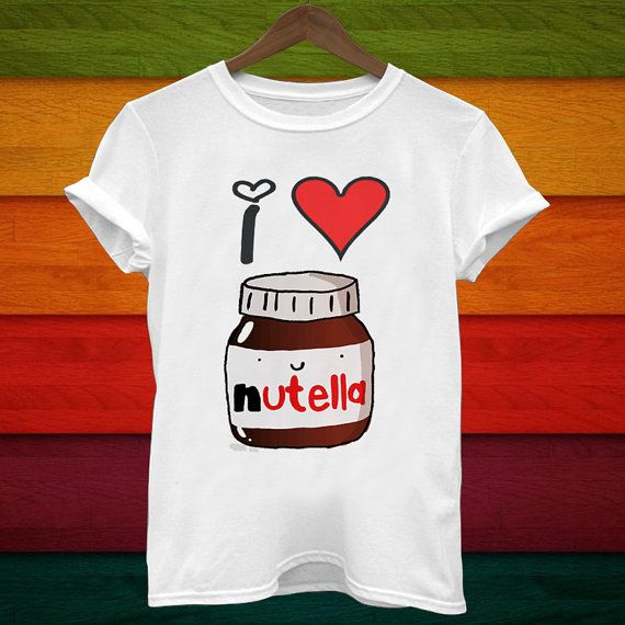i heart nutella tshirt shirts t shirt women t shirt by