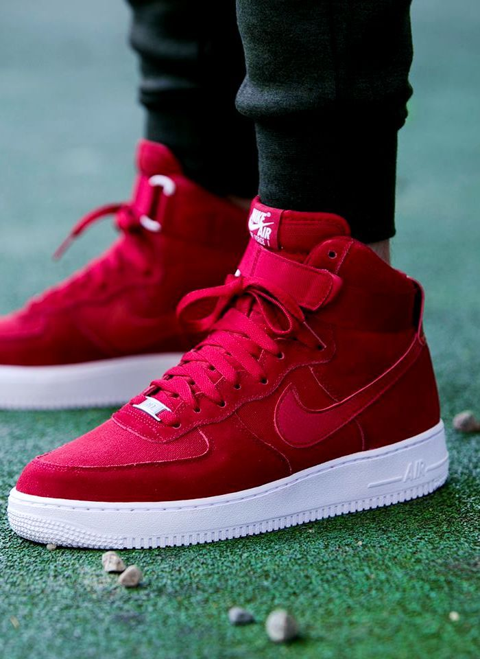triunfante Día del Maestro Claraboya  127305972398 - air force 1 hight 07 suede gym red via | Nike air shoes,  Mens nike shoes, Sneakers men fashion