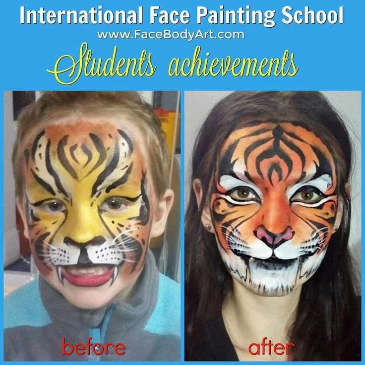 I am so proud of my students! Check out what tigers can now paint Natalia Ivchenko one of my students at the International Face Painting School. And she has been face painting for only one year before the enrolment!  In my online face painting Course I don't teach you how become a copy of me. I help you unlock your hidden talents and become a new original you!  Want to learn more about my School? Get the FREE TRIAL on the School website http://www.facebodyart.com.