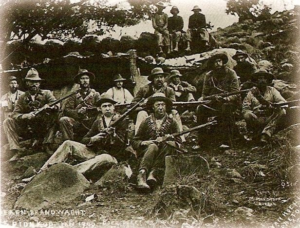 The Boers fought in dispersed formations, sometimes carrying out regular warfare and sometimes guerilla-style forms of resistance. During the battle of Colenso in Dec 1899 British forces lost 143 KIA, 240 MIA, 755 WIA and 10 guns while the Boers lost 6 KIA and 27 WIA.