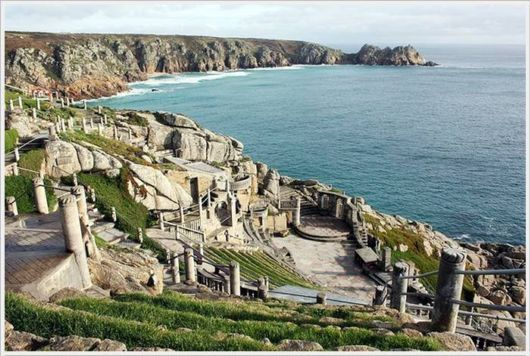 The Minack Theater near Land's End in Cornwall (UK) is