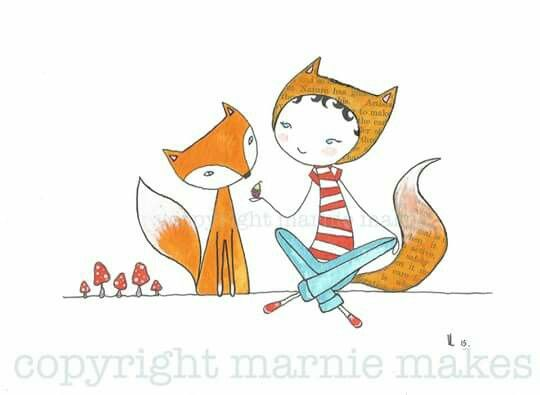 'Fox Friends', illustration by Marnie Makes