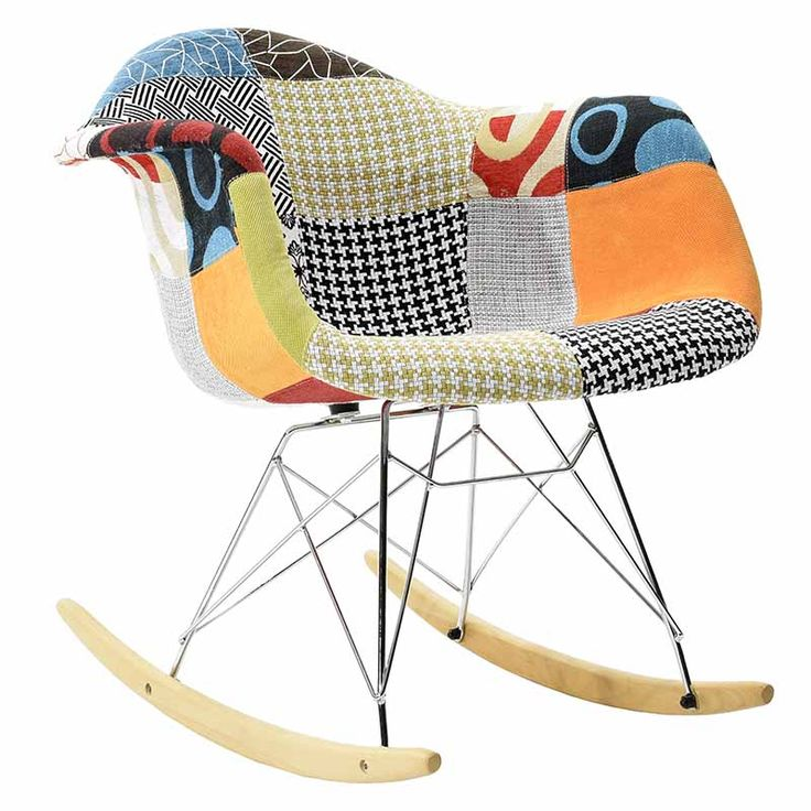 Propylene rocking fabric chair pachwork