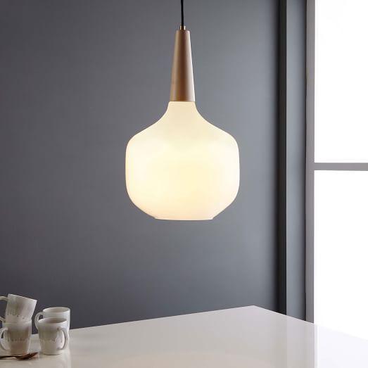"Kitchen Pendant | West Elm | $143 | 13"" diam | 60w incandescent"