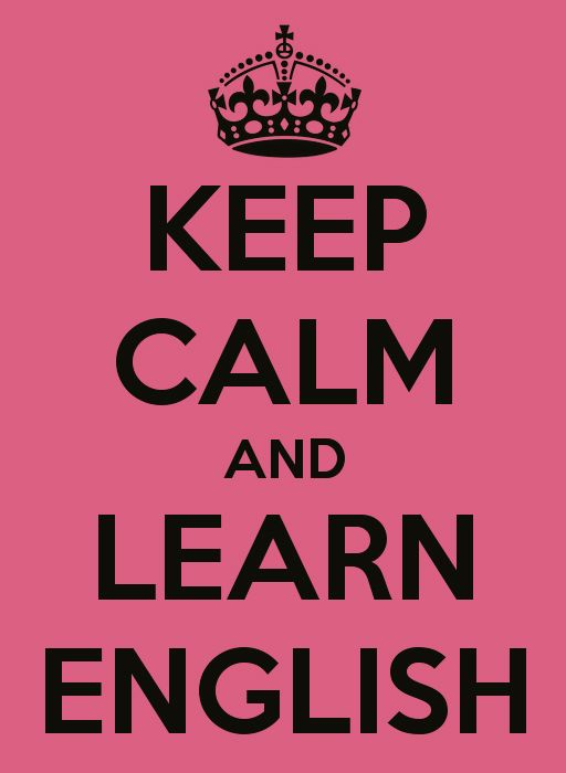 Keep Calm and learn English #language #english #travel