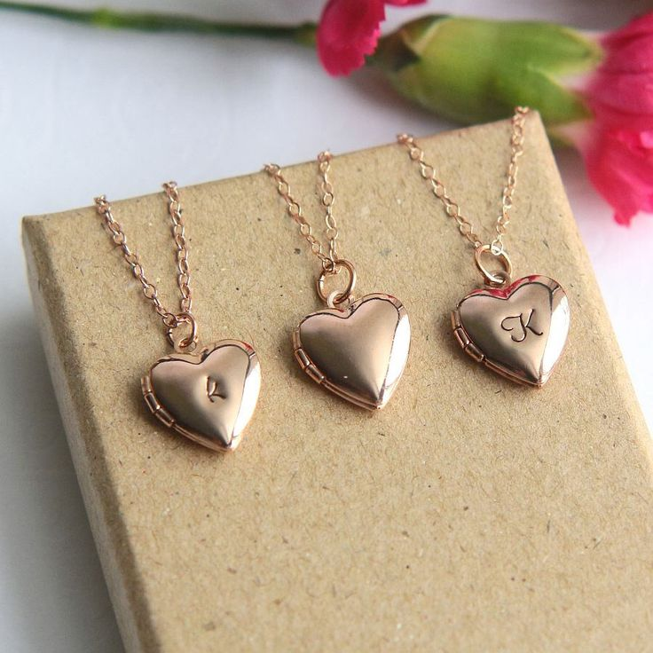 Heart Locket, Locket Necklace, Personalized Locket, Initial Locket, Rose Gold Heart Locket Necklace, Heart Necklace, Personalized Necklace by JewelleryJKW on Etsy https://www.etsy.com/listing/243588590/heart-locket-locket-necklace
