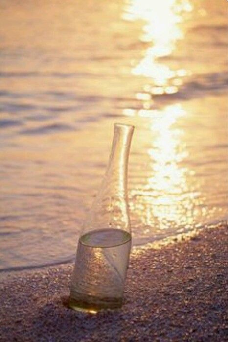 Flaschenpost, Sprüche Englisch, Sonnenlicht, Strandgut, Sonnenuntergang,  Stimmung, Kerstin, Schöne Orte, Lichtlein