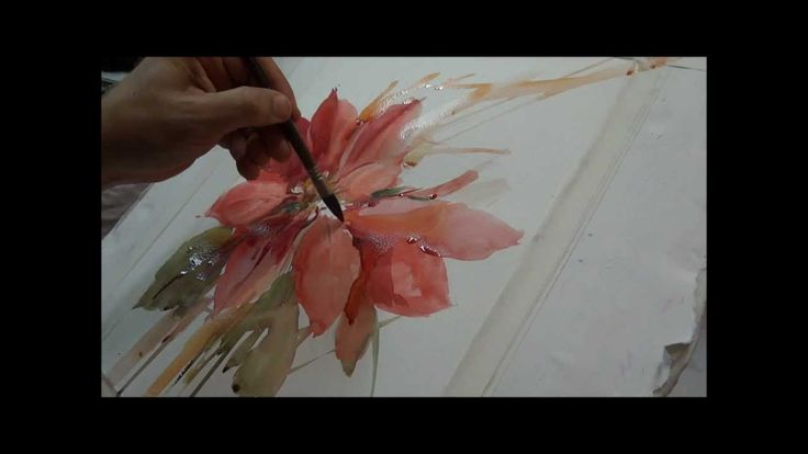 www.fcembranelli.blogspot.com - Floral watercolor demonstration by the Brazilian watercolorist Fábio Cembranelli.