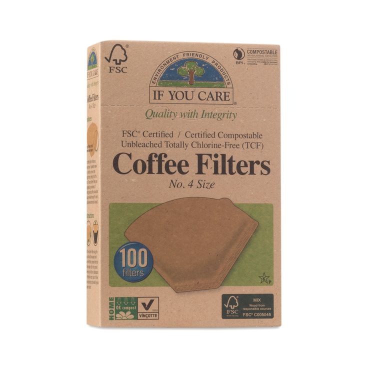 Shop If You Care Compostable Certified Coffee Filters, #4 Cone at wholesale price only at ThriveMarket.com
