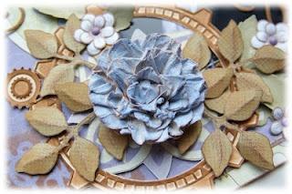 distressed flower tutorial using Heartfelt Creations Posy Patch PreCut Set by Emilia van den Heuvel
