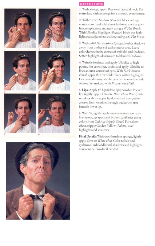 How to do old man make-up (Ben Nye)