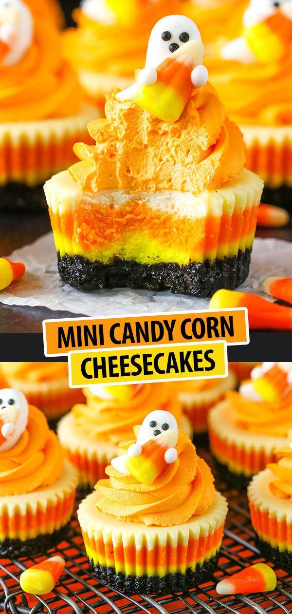 Mini Candy Corn Cheesecakes