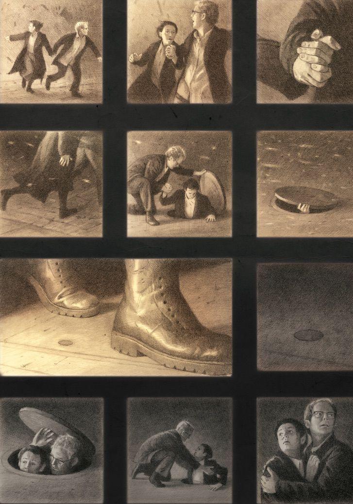 Esta novela gráfica sin palabras es la historia de cualquier emigrante, refugiado, desplazado, y un homenaje a todos los que han realizado el viaje. A través de una serie de imágenes conectadas, cuenta la historia de un emigrante anónimo que deja su país natal en penosas circunstancias, cruza un océano hasta una nueva ciudad y aprende cómo vivir en ella.   #ShaunTan