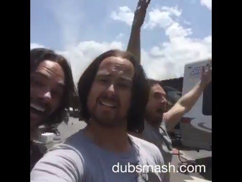 Sebastian Stan and his stunt doubles singing Minion songs. >>I had to do it. I had to find it!