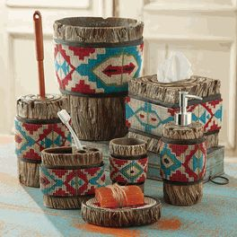 Aztec Southwestern Bath Accessories