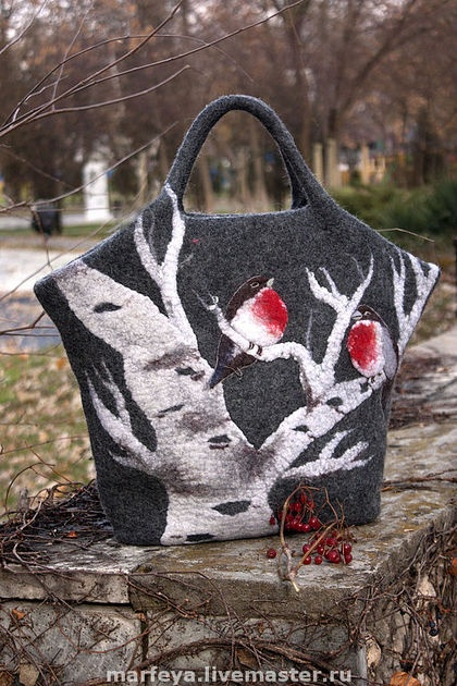 Mariya Solovej felted bag