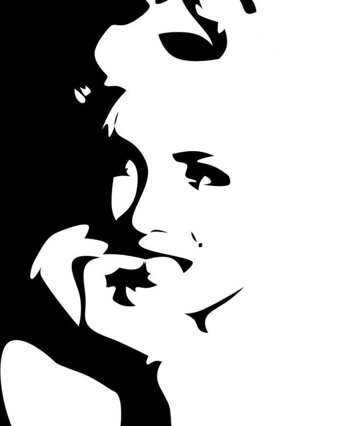 pop art silhouette | Marilyn monroe art in black and white. #blackandwhite #silhouette #marilynmonroe http://www.pinterest.com/TheHitman14/black-and-white/