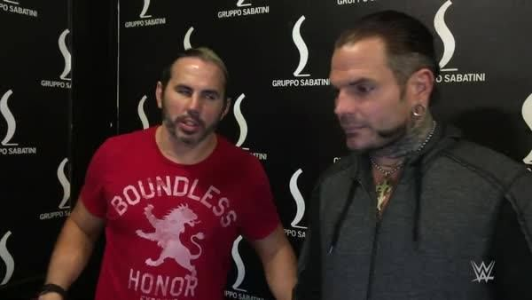 EXCLUSIVE: WWE Raw Tag Team Champions Matt Hardy - WWE & Jeff Hardy recap their night in Bologna and praise the enthusiasm of the WWE Universe in Europe!