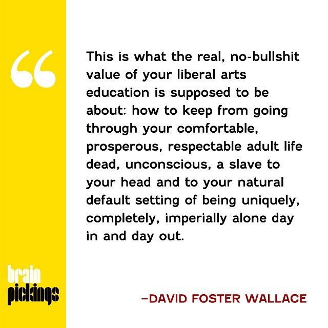 a reflection on david foster wallaces commencement speech This is water – commencement speech from david  i'm currently reading the great big book, infinite jest by david foster wallace  commencement speech,.