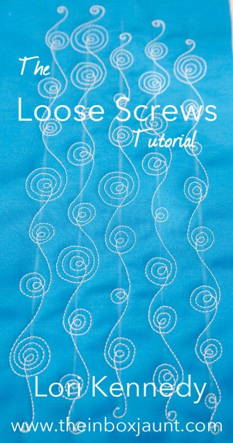 Loose Screws, Spirals, Machine Quilting, Lori Kennedy