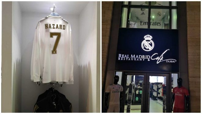 It Is Expected That Eden Hazard Will Wear The No 7 Shirt At Real Madrid And The Club Apos S New Kit Is Already On Sale In Dubai With The Belgian Real Madrid