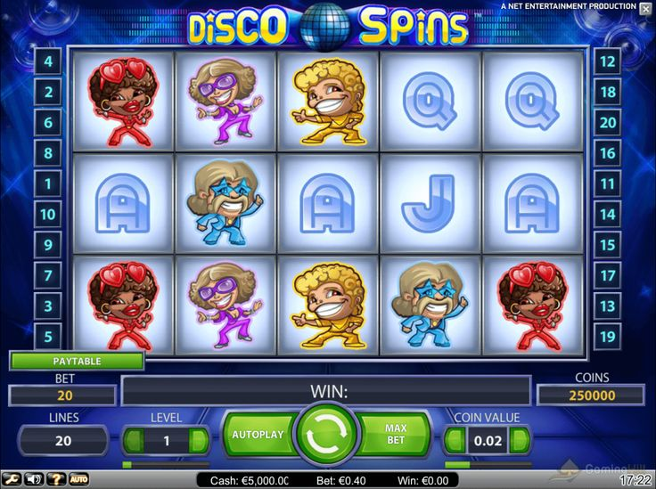 Being one of the best fruit games powered by the NetEnt company, or in other words, NetEntertainment, Disco Spins slot game has what to offer. Once you start playing this slot, you will be taken back in time by Disco Spins.