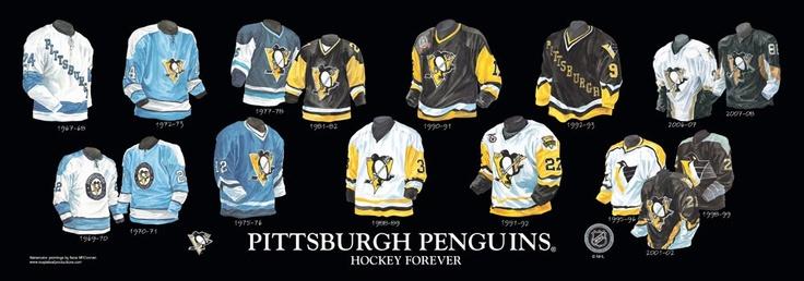 Pittsburgh Penguins Uniform History