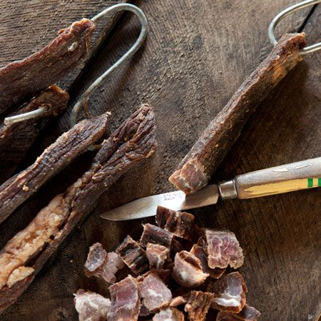 Discover South African cooking with Louise Gillett's delicious biltong recipe for free-range venison meat.