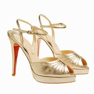 louboutin gold sandals