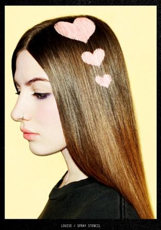 StencilsBleach London, Hair Colors, Hair Design, Heart Stencils, Beautiful, Heart Hair, Hair Style, Colors Hairstyles, Hair Stencils