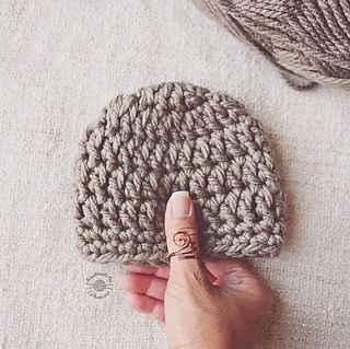 This is a basic crocheted newborn beanie. Sizing chart is available for other sizes but tutorial is for newborn.