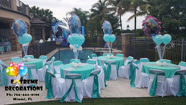 Frozen balloon centerpieces ana and elsa balloons double bubble table decorations frozen