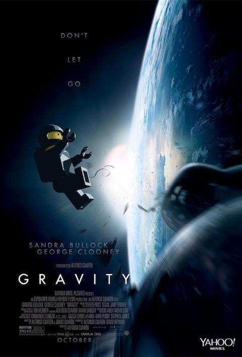 Gravity - Carteles de películas nominadas al Oscar 2014 recreados con LEGO