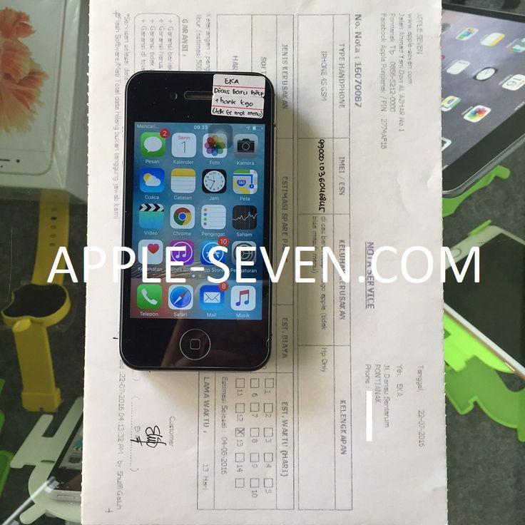 iPhone 4S dicas baru hidup hank logo apple atas nama Ibu Eka | Apple Pontianak