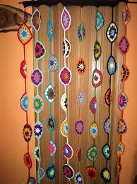 Resultado de imagem para cortina crochet con circulos