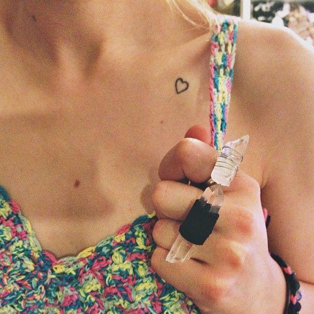 Sara from Waiste's little heart tattoos - we love! <3