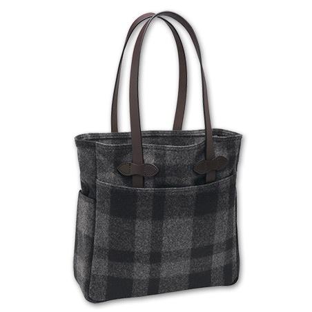 Wool Tote Bag in Gray/Black, www.filson.com