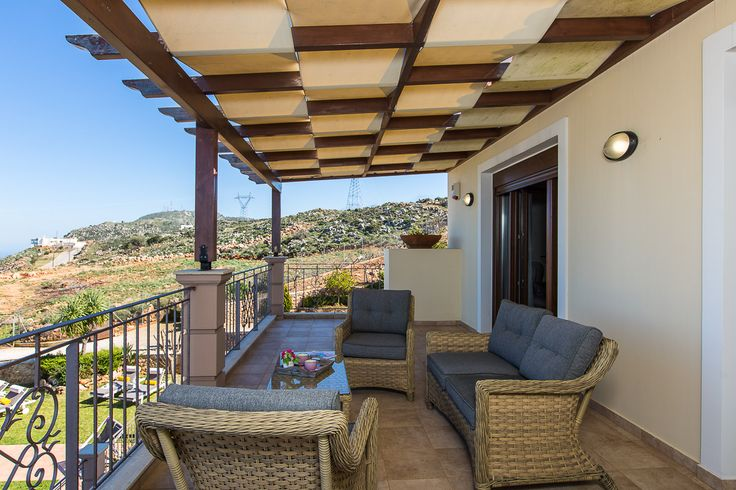 Golden Hill Villa in Malaxa Village, Chania, Crete #villa #chania #crete #greece #vacation_rental #holidays #luxurious_accommodation #privacy #visit_crete #unforgettable_holidays #live_your_myth_in_Greece #outdoors #veranda #love_the_view