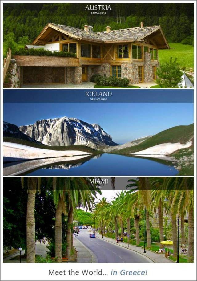 #Austria = Parnassos, #Iceland = Drakolomni, #Miami = Kos... Meet the World in Greece!