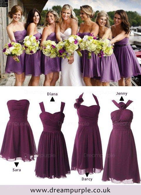 Purple Bridesmaids Dresses From Dreampurple Uk Bridesmaid Pinterest And Wedding