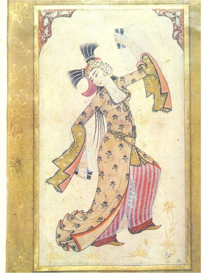 Dancing Girl, Album of Ahmed by Levni ; Topkapı Palace Museum, 1710-20