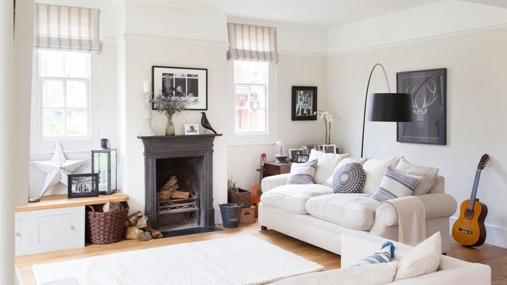 Monochrome living room with country accessories