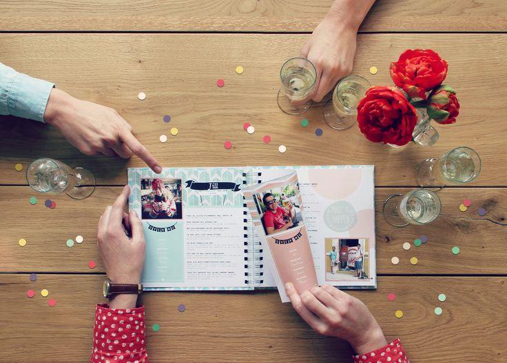 Van een sweet-sixteen tot de 80e verjaardag van opa of oma. Een vriendenboek is voor alle leeftijden!  Vriendenboek - book - design - boek - ontwerp - verjaardag - kado - inspiratie