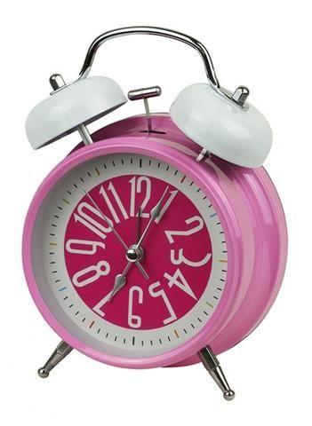 Girls Pink Retro Alarm Clock - The Hippie House
