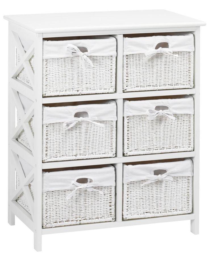 Comodă 6 sertare OURE albă   JYSK